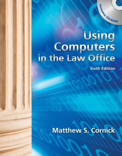 Using Computers in the Law Office (with Workbook)  6th 2012 edition cover
