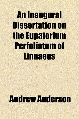 Inaugural Dissertation on the Eupatorium Perfoliatum of Linnaeus  2010 edition cover