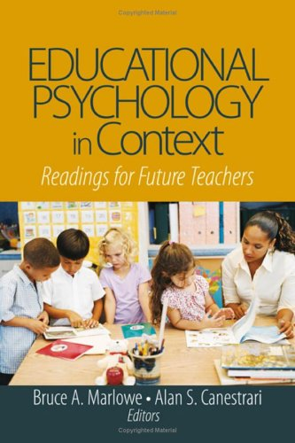 Educational Psychology in Context Readings for Future Teachers  2006 edition cover