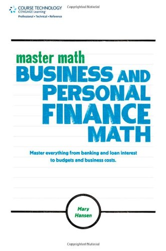 Master Math Business and Personal Finance Math  2012 edition cover