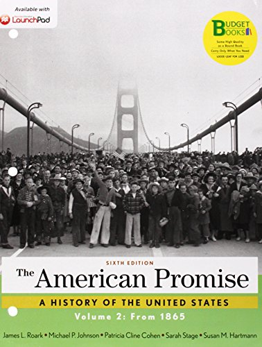 The American Promise: From 1865  2014 edition cover