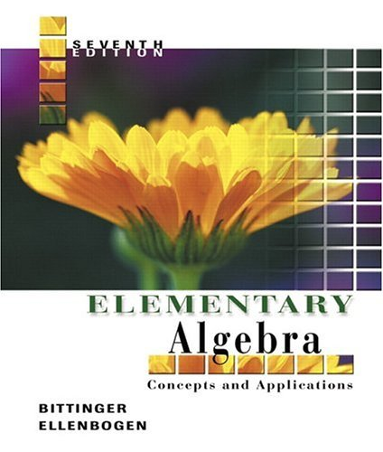 Elementary Algebra Concepts and Applications 7th 2006 (Revised) 9780321233882 Front Cover