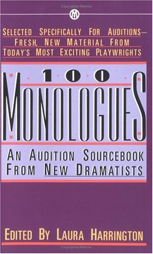 One Hundred Monologues An Audition Sourcebook from New Dramatists  1989 edition cover