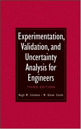 Experimentation, Validation, and Uncertainty Analysis for Engineers  3rd 2009 edition cover