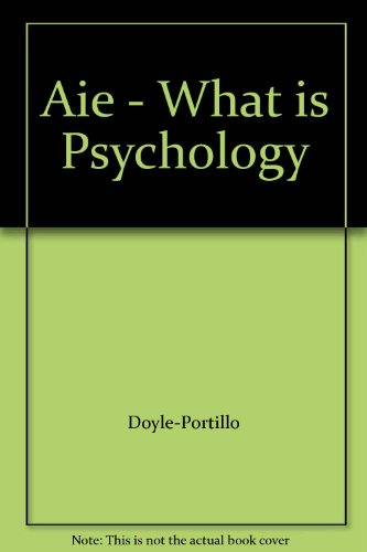 WHAT IS PSYCHOLOGY? >ANNOT.INS N/A 9780495062882 Front Cover
