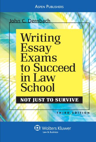Writing Essay Exams to Succeed in Law School  3rd 2010 (Student Manual, Study Guide, etc.) edition cover