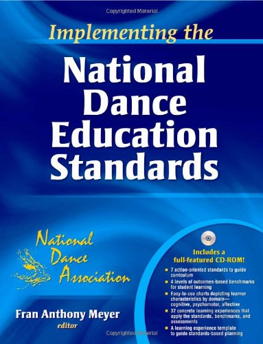 Implementing the National Dance Education Standards   2010 edition cover