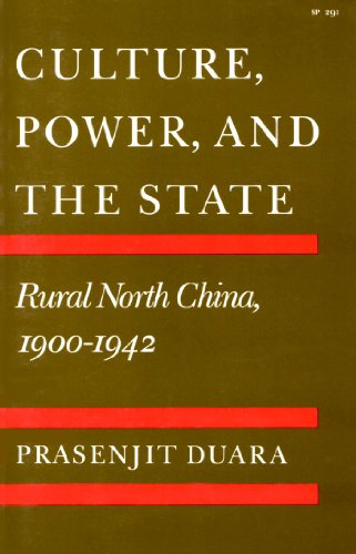 Culture, Power, and the State Rural North China, 1900-1942  1988 edition cover