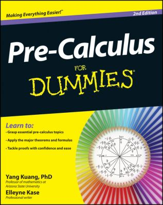 Pre-Calculus for Dummies�  2nd 2012 edition cover