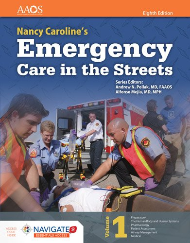 Nancy Caroline's Emergency Care in the Streets + Navigate 2 Advantage Passcode:   2017 9781284104882 Front Cover