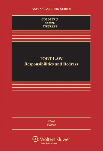 Tort Law Responsibilities and Redress 3rd 2012 (Revised) edition cover