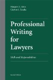 Professional Writing for Lawyers Skills and Responsibilities 2nd 2012 edition cover
