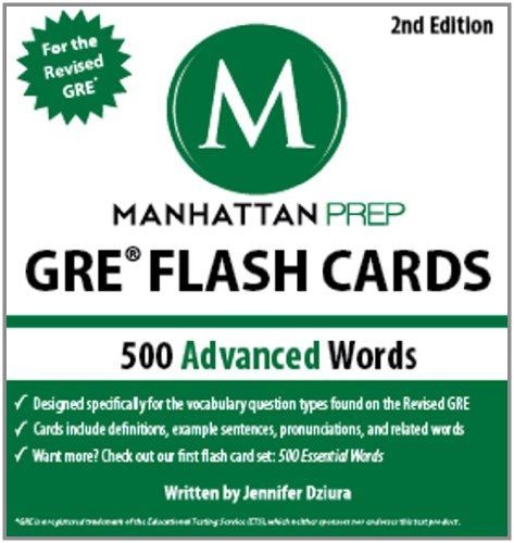 500 Advanced Words: GRE Vocabulary Flash Cards  2nd (Revised) 9781935707882 Front Cover