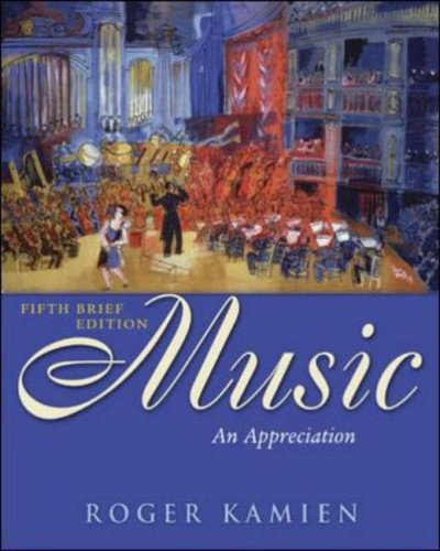 Music An Appreciation, with Multimedia Companion 5th 2006 (Revised) edition cover