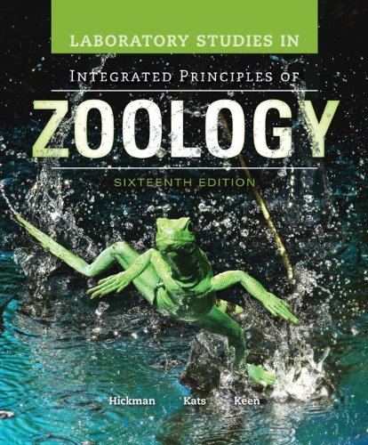 Laboratory Studies in Integrated Principles of Zoology:   2013 edition cover