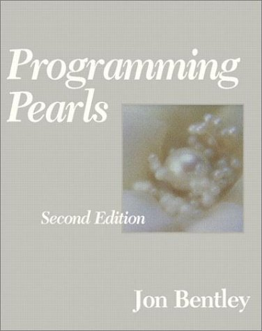 Programming Pearls  2nd 2000 (Revised) edition cover