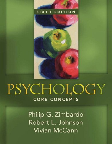 Psychology Core Concepts 6th 2009 edition cover