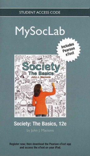 Society The Basics 12th 2013 edition cover