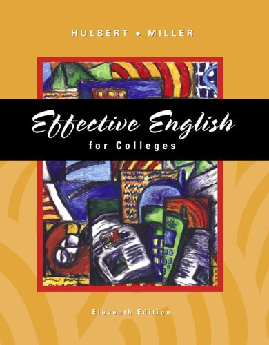 Effective English for Colleges  11th 2006 (Revised) edition cover