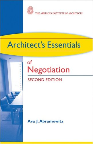 Architect's Essentials of Negotiation  2nd 2009 edition cover