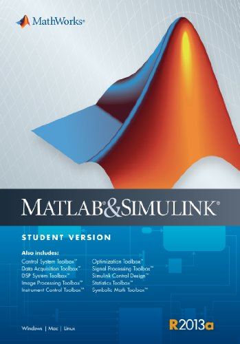 MATLAB and Simulink Student Version R2013a   2013 9780982583883 Front Cover