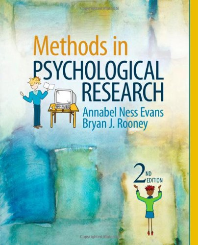 Methods in Psychological Research  2nd 2011 edition cover