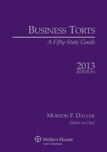 Business Torts: A Fifty-State Guide, 2013 Edition  2012 edition cover
