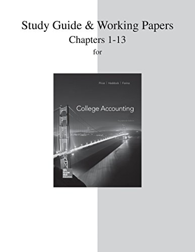 College Accounting: Chapters 1-13  2014 edition cover