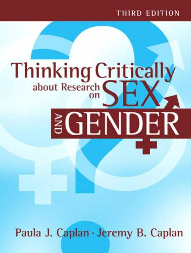 Thinking Critically about Research on Sex and Gender  3rd 2009 (Revised) edition cover