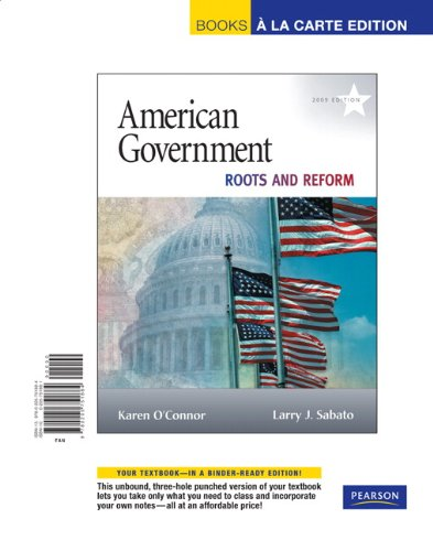 American Government 2009 Roots and Reform 10th 2009 9780205751884 Front Cover