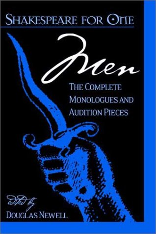 Shakespeare for One - Men The Complete Monologues and Audition Pieces  2002 edition cover