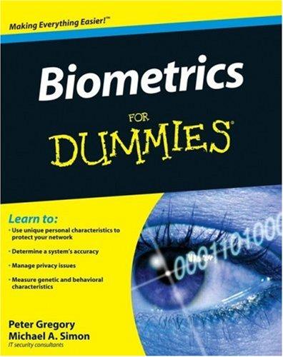 Biometrics for Dummies   2008 edition cover