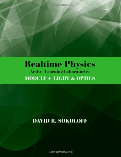 Realtime Physics Active Learning Laboratories - Light and Optics 3rd 2012 edition cover