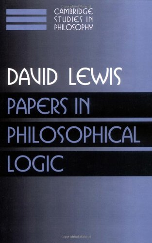 Papers in Philosophical Logic   1998 9780521587884 Front Cover