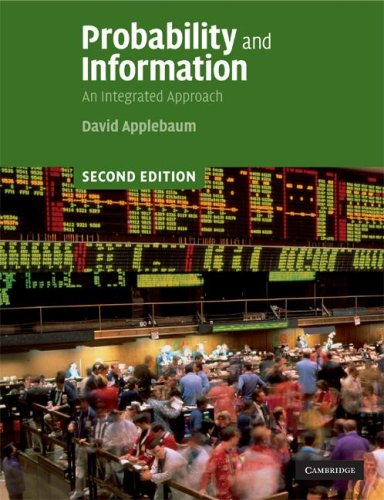 Probability and Information An Integrated Approach 2nd 2008 9780521727884 Front Cover