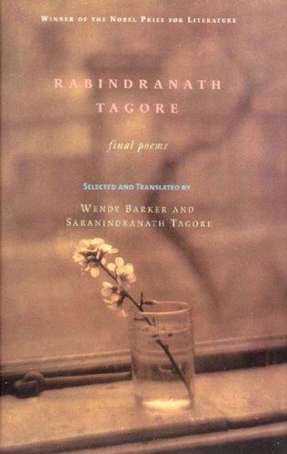 Rabindranath Tagore Final Poems  2001 edition cover