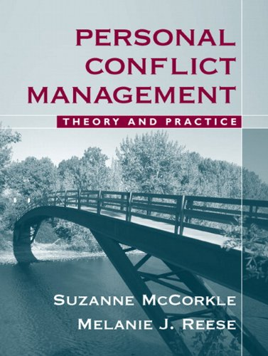 Personal Conflict Management Theory and Practice  2009 edition cover