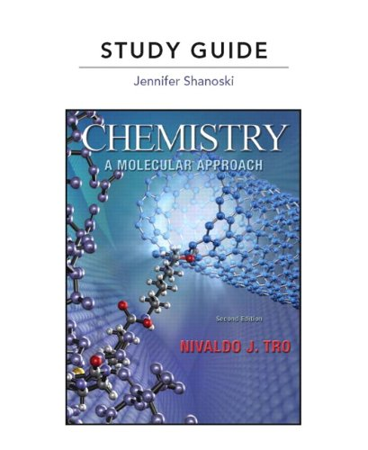 Study Guide for Chemistry A Molecular Approach 2nd 2011 edition cover