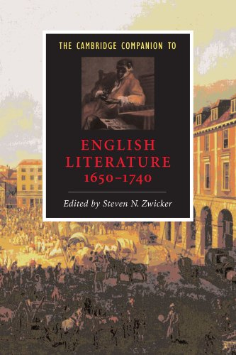 Cambridge Companion to English Literature, 1650-1740   1998 edition cover