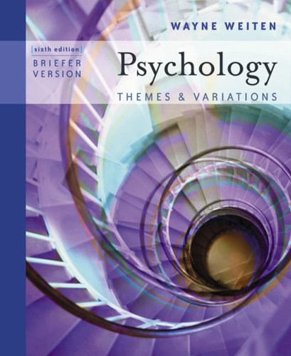 Psychology Themes and Variations 6th 2005 (Revised) edition cover