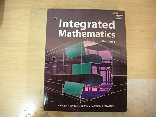 Hmh Integrated Math 3:   2014 9780544389885 Front Cover