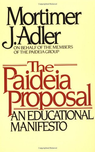 Paideia Proposal   1998 edition cover