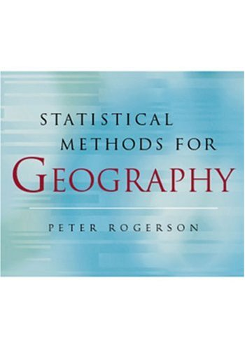 Statistical Methods for Geography   2001 edition cover