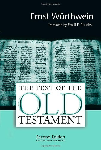 Text of the Old Testament An Introduction to the Biblia Hebraica 2nd 1994 (Revised) edition cover