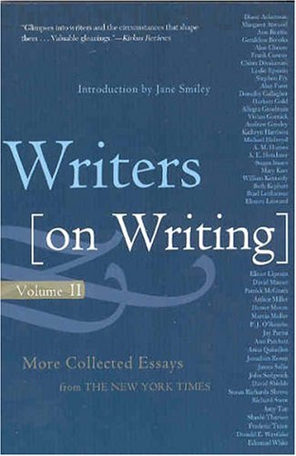 Writers on Writing More Collected Essays from the New York Times  2004 (Revised) edition cover