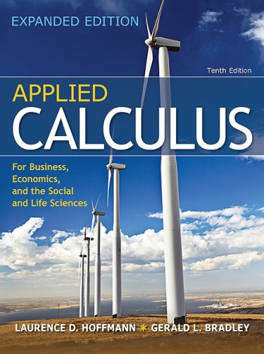 Applied Calculus for Business, Economics, and the Social and Life Sciences, Expanded Edition 10th 2010 edition cover