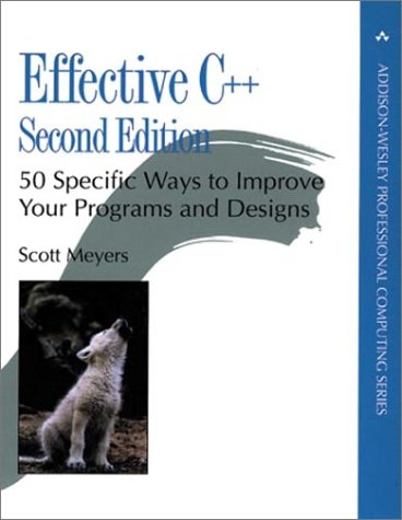 Effective C++ 50 Specific Ways to Improve Your Programs and Design 2nd 1998 edition cover