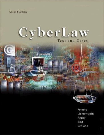 Cyberlaw Text and Cases 2nd 2004 (Revised) edition cover