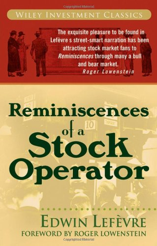 Reminiscences of a Stock Operator   1993 edition cover