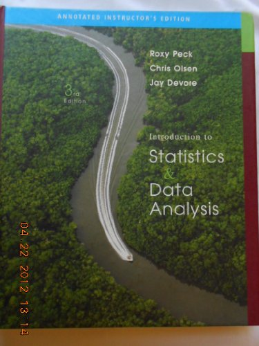INTRO.TO STAT.+DATA ANALYSIS > 3rd 2008 9780495118886 Front Cover